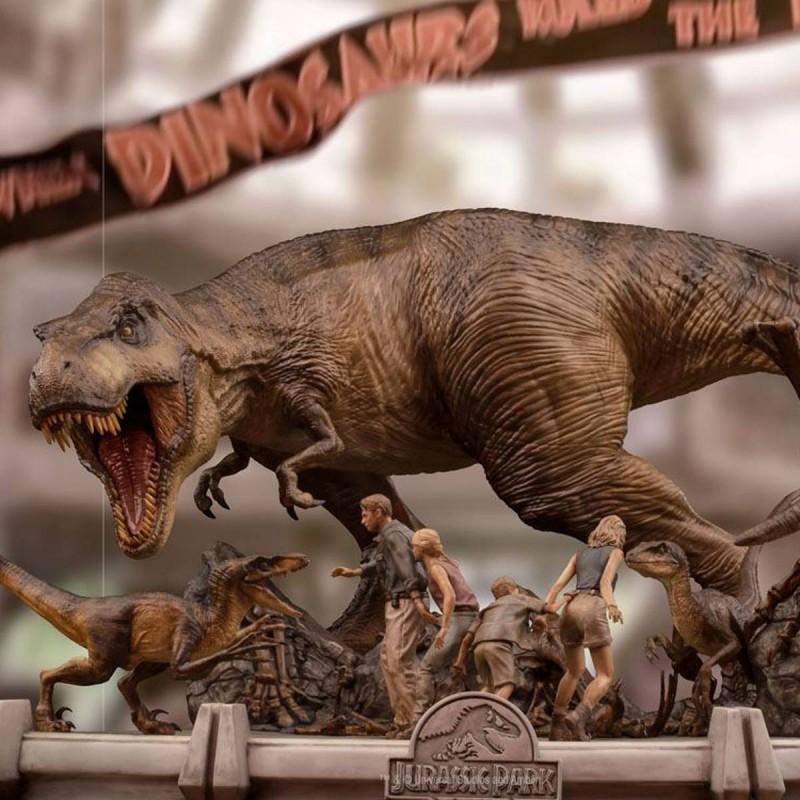 The Final Scene - Jurassic Park - 1/20 Demi Art Scale Statue