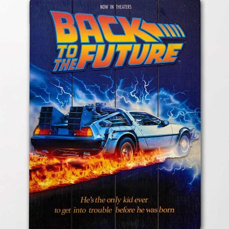 DeLorean - Zurück in die Zukunft - 3D Holzdruck 30 x 40 cm