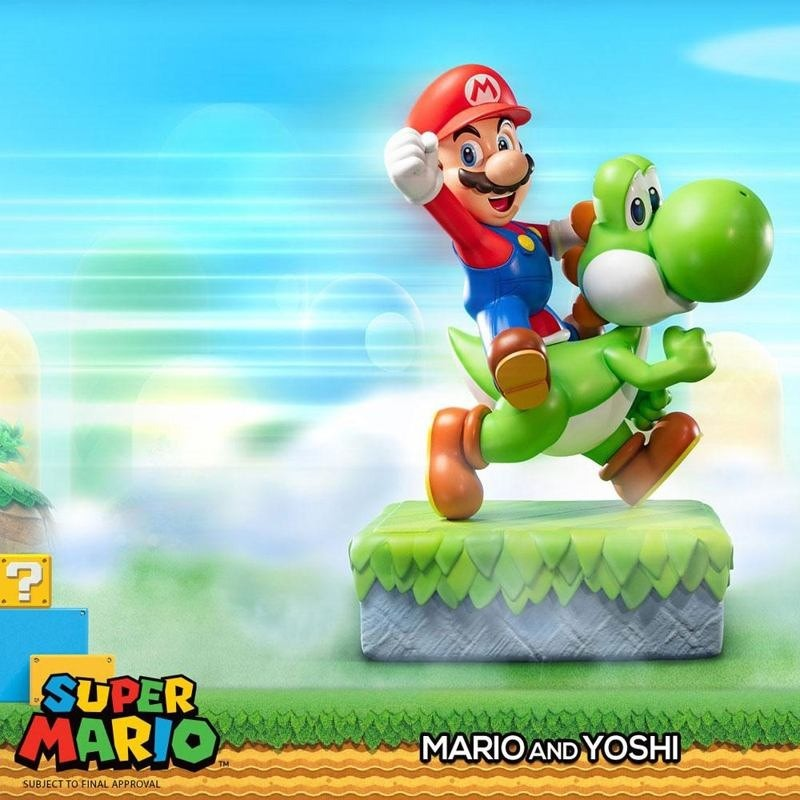Mario & Yoshi - Super Mario - Polystone Statue