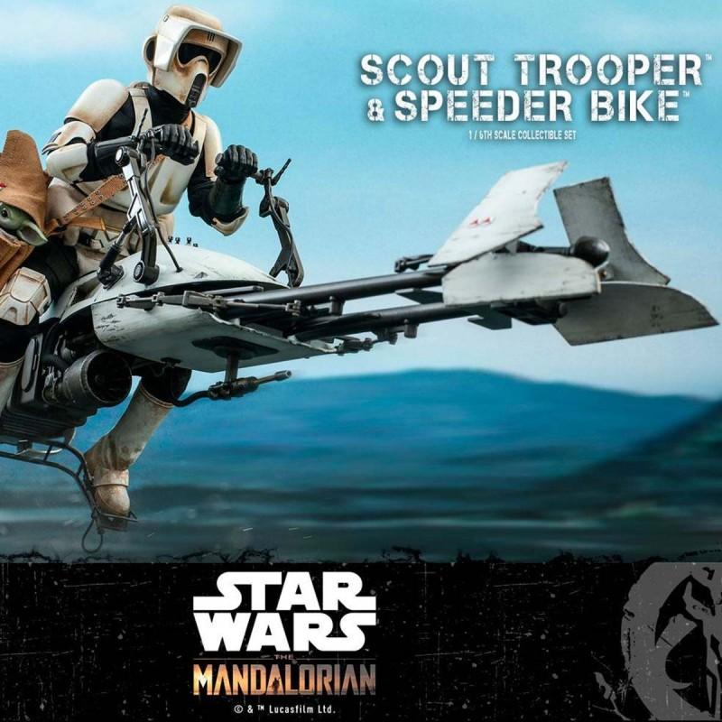 Scout Trooper & Speeder Bike - Star Wars The Mandalorian - 1/6 Scale Figur