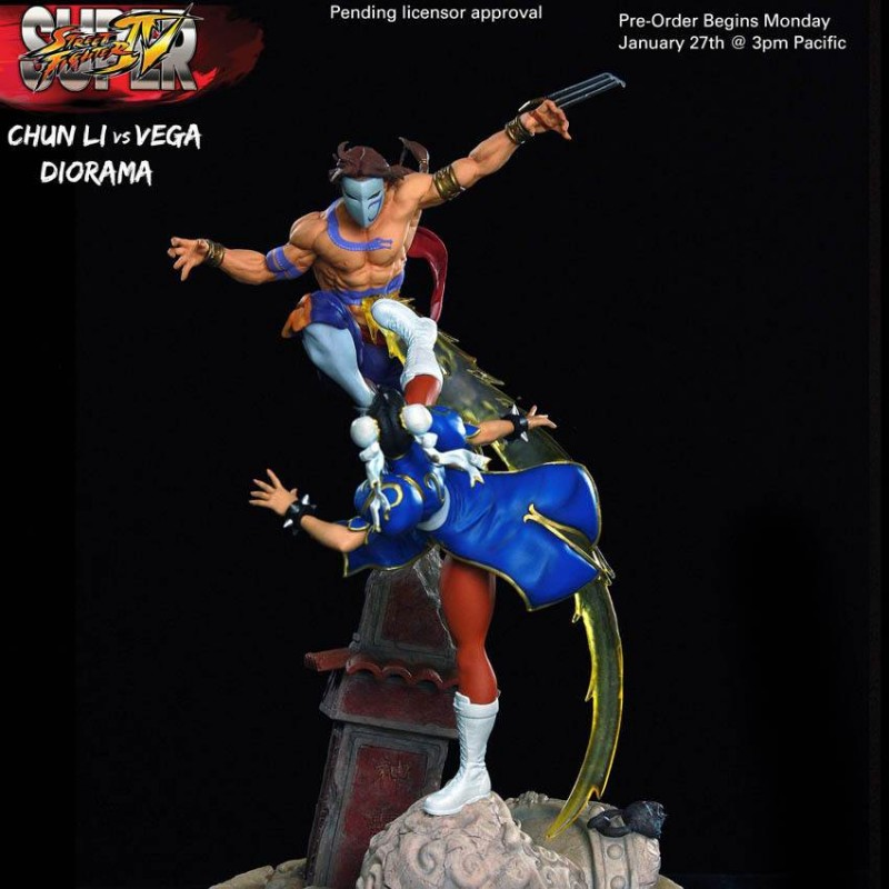 Chun-Li VS Vega Diorama - Street Fighter