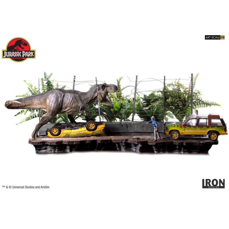 T-Rex Attack Set A & Set B - Jurassic Park - 1/10 Scale Diorama