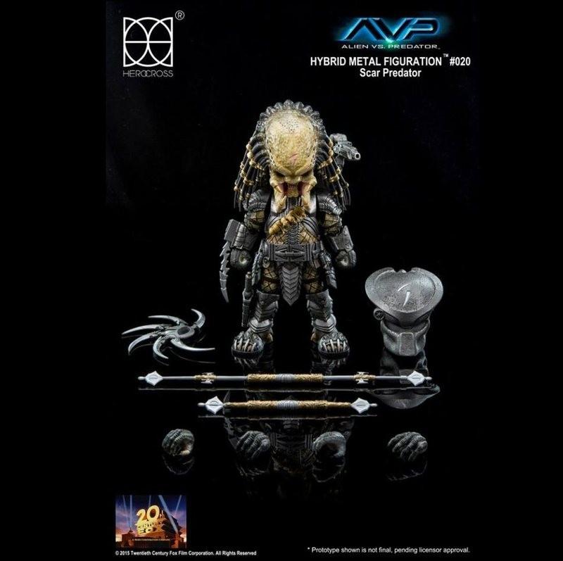 Scar Predator - Alien vs. Predator - Hybrid Metal Figuration