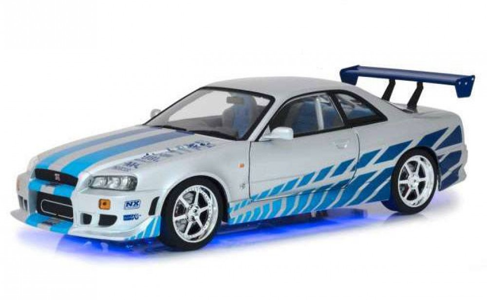 Brians Nissan Skyline Gt R34 2 Fast 2 Furious Diecast Modell 1