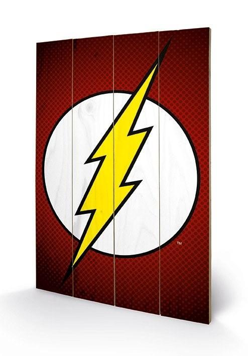 Flash Logo - DC Comics - Holzdruck 40 x 60 cm