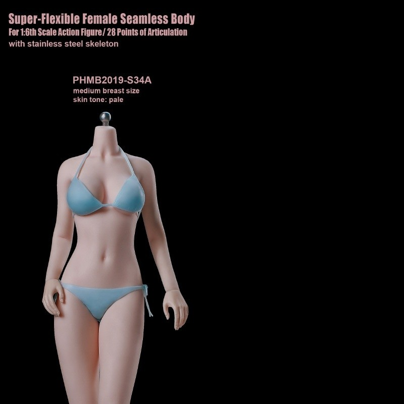Super-Flexible Female Seamless Body S34A - 1/6 Scale Body