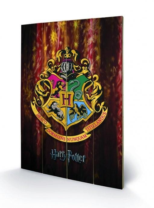 Hogwarts Crest - Harry Potter - Holzdruck 40 x 60 cm