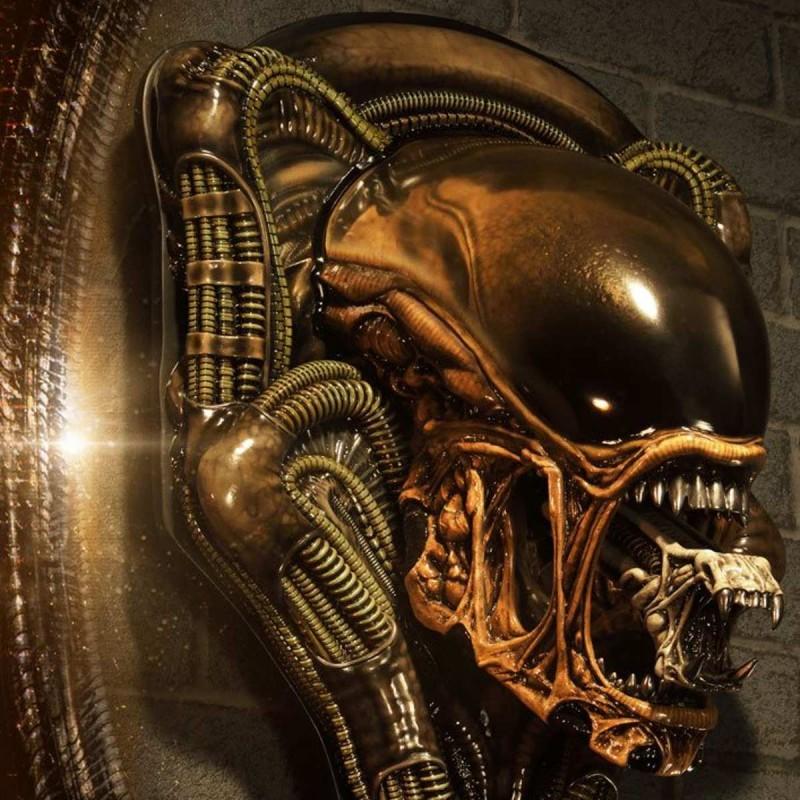 Dog Alien Open Mouth Version - Alien 3 - 3D Wand-Relief
