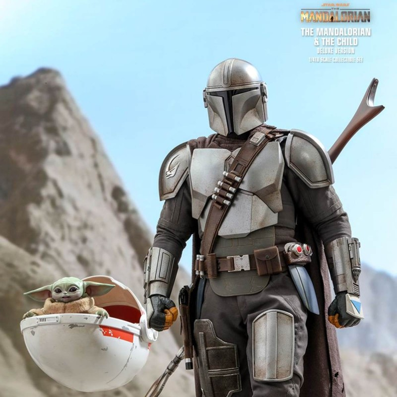 The Mandalorian & The Child (Deluxe) - Star Wars The Mandalorian - 1/4 Scale Figur