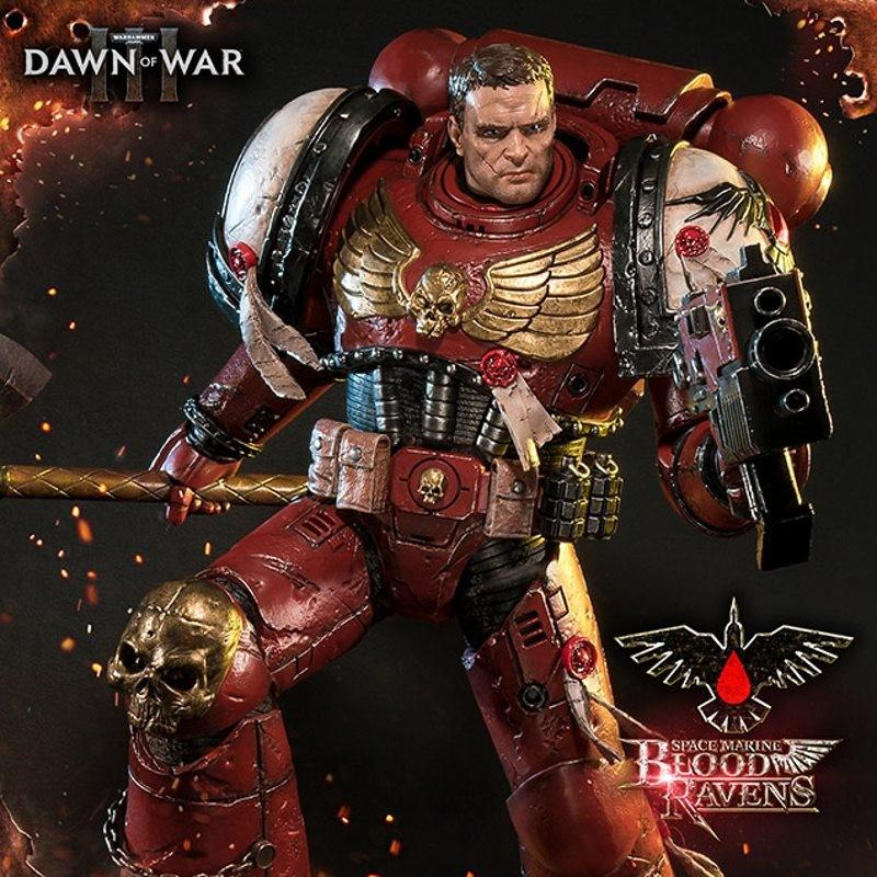 Space Marine Blood Ravens Deluxe Version - Warhammer 40K Dawn of War III - Polystone Statue
