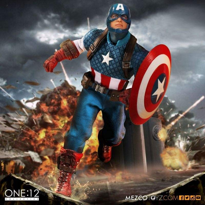 Captain America - Marvel Universe - 1/12 Scale Figur