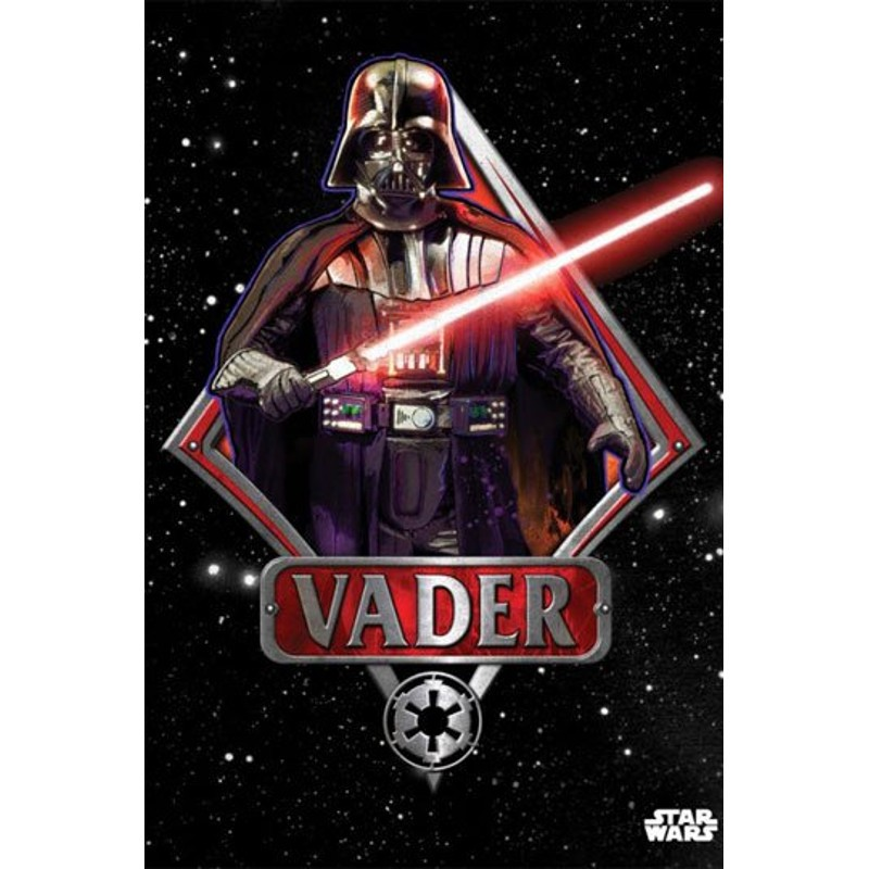 Darth Vader Emblem - Star Wars - Metall-Poster
