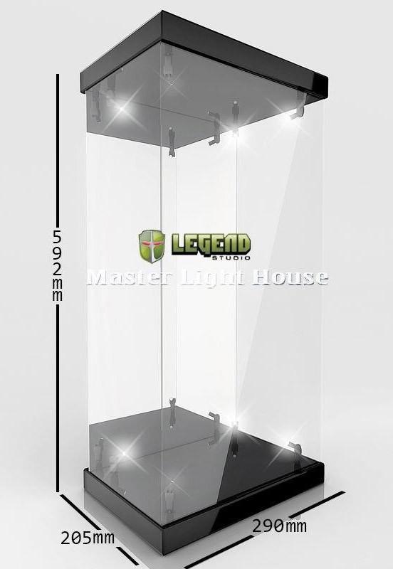 Master Light House für 1/4 Actionfiguren (schwarz) - Acryl Display Case mit Beleuchtung