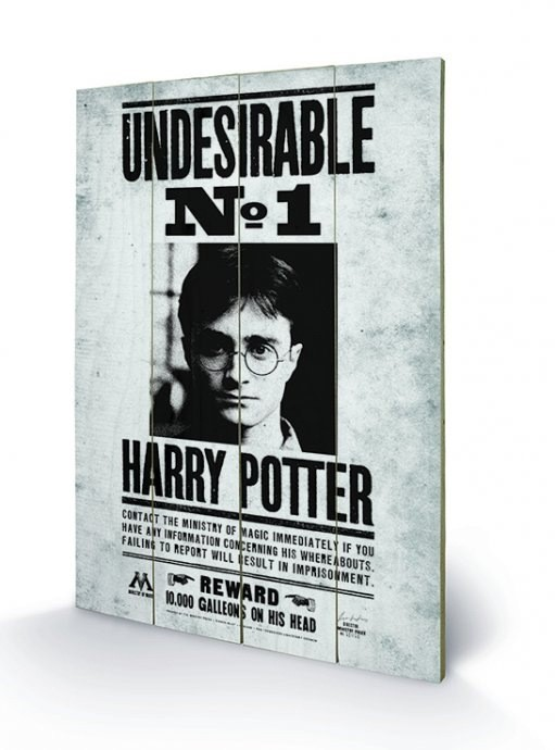 Undesirable No. 1 - Harry Potter - Holzdruck 40 x 60 cm