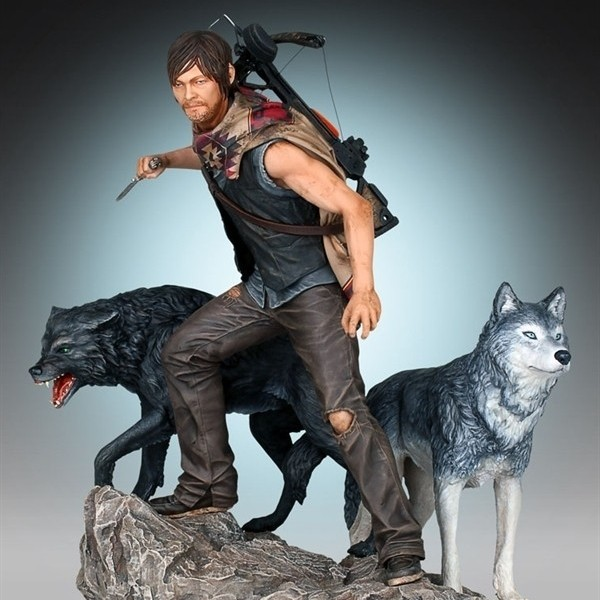 Daryl & the Wolves - The Walking Dead - 1/8 Scale Statue