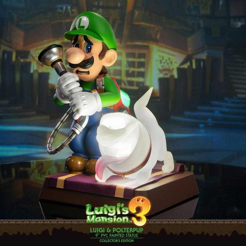 Luigi & Polterpinscher Collector's Edition - Luigi's Mansion 3 - PVC Statue
