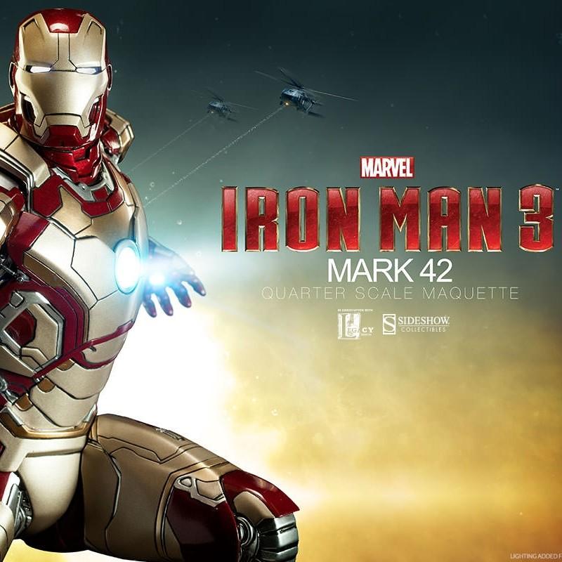 Mark 42 - Iron Man 3 - Quarter Scale Maquette