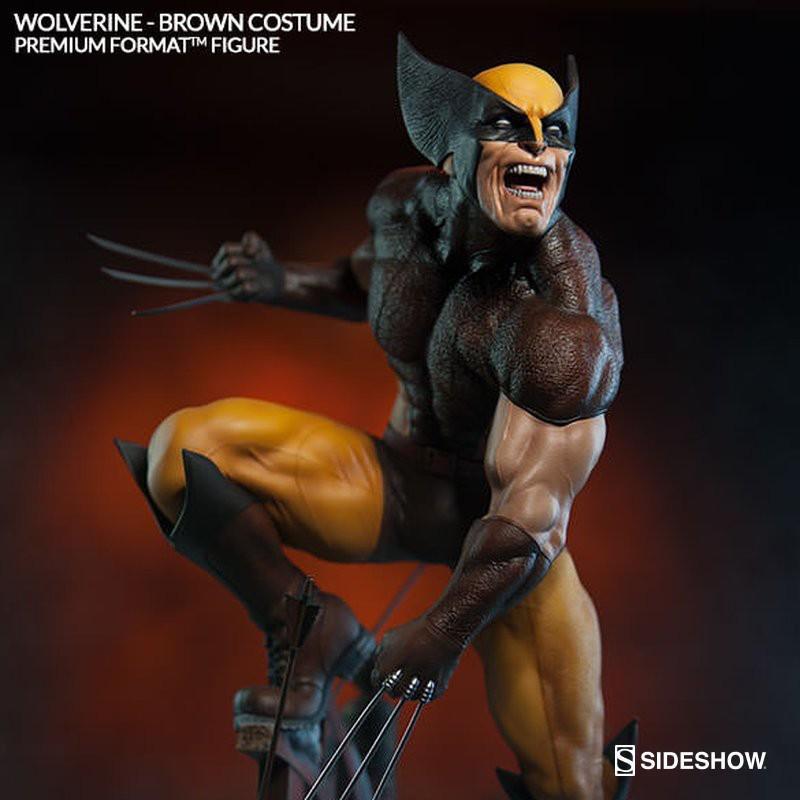 Wolverine – Brown Costume - Premium Format Statue