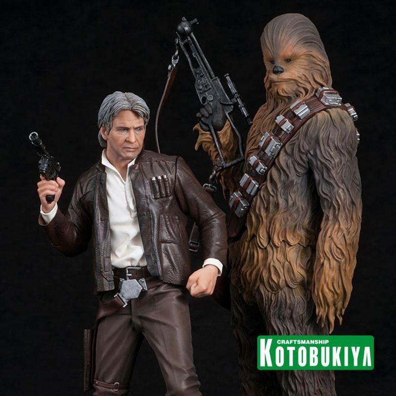 Han Solo & Chewbacca - Star Wars Episode VII - ARTFX+ Statuen Set