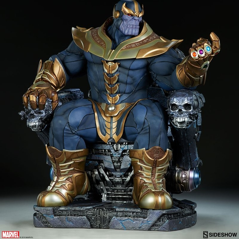 Thanos on Throne - Marvel - Maquette