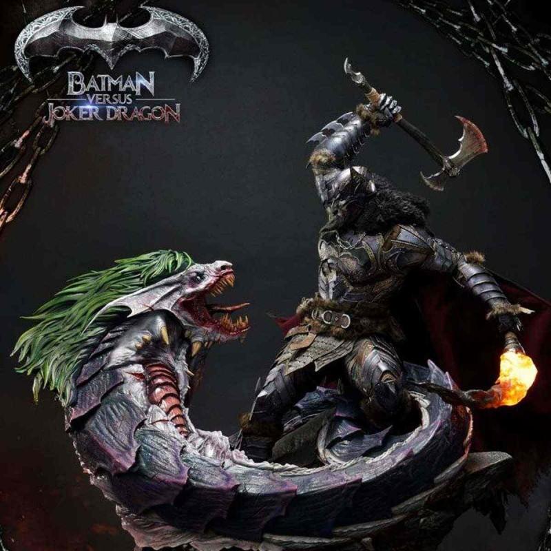 Batman Versus Joker Dragon Deluxe Version - Dark Nights: Metal - 1/3 Scale Statue