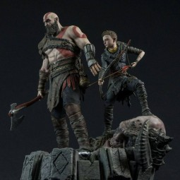 Kratos & Atreus - God of War 2018 - 1/6 Scale Diorama