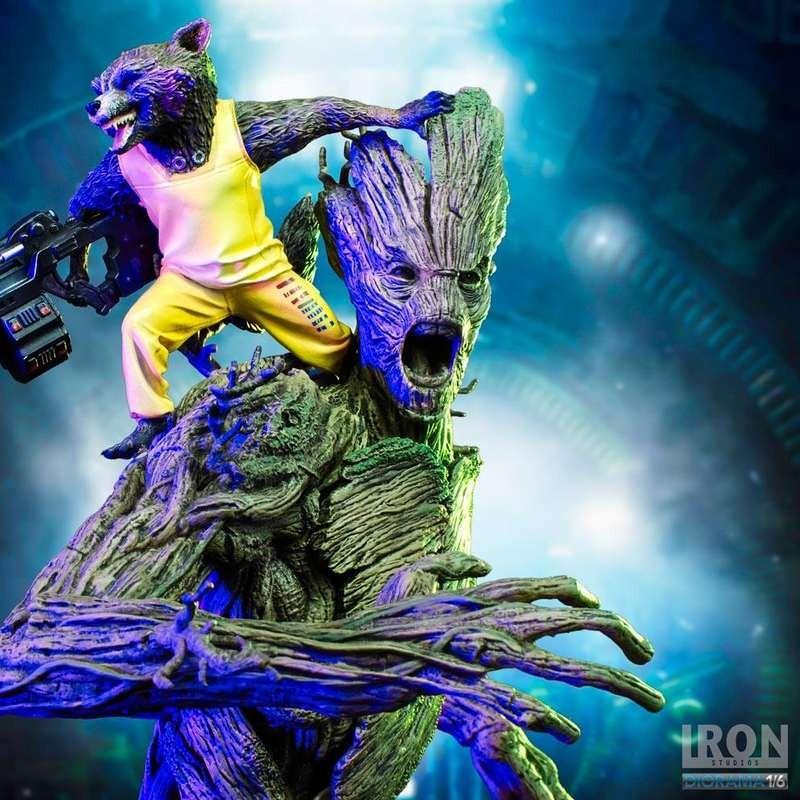 Rocket & Groot Prison Vers. - 1/6 Scale Statue