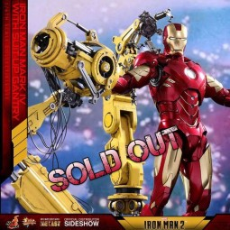 Iron Man Mark IV & Suit-up Gantry - Iron Man 2 - Diecast 1/6 Scale Figur