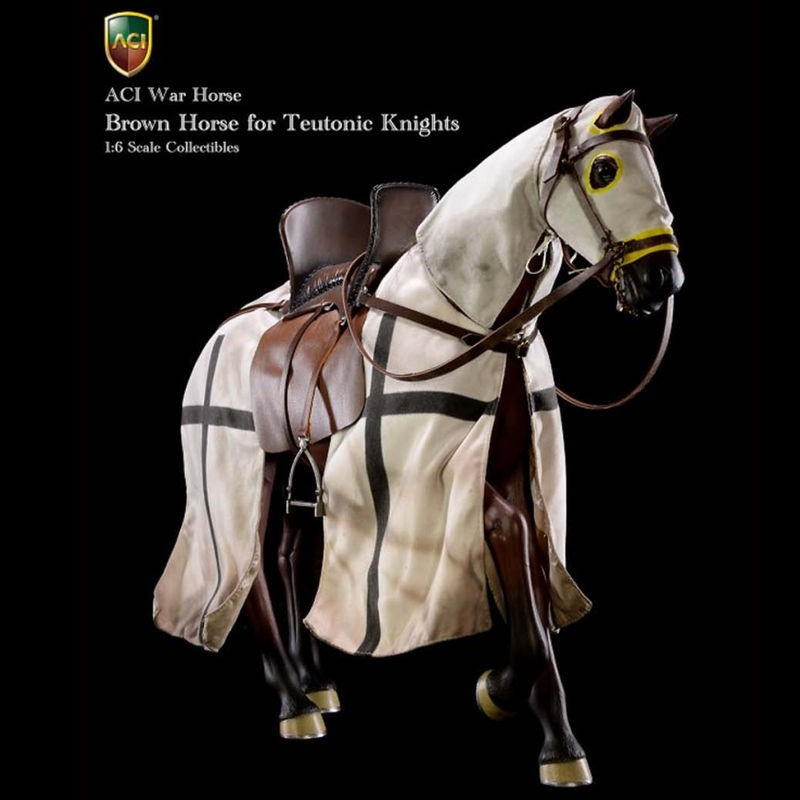 Brown War Horse for Teutonic Knights - 1/6 Scale Collectible