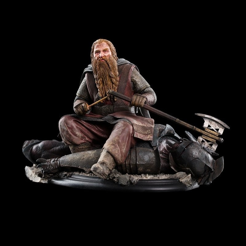 Gimli The Dwarf On Uruk-Hai 43 - Herr der Ringe - Statue 11 cm