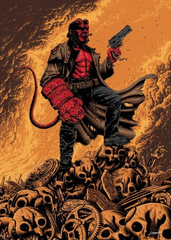 Hellboy - Kunstdruck 42 x 30 cm