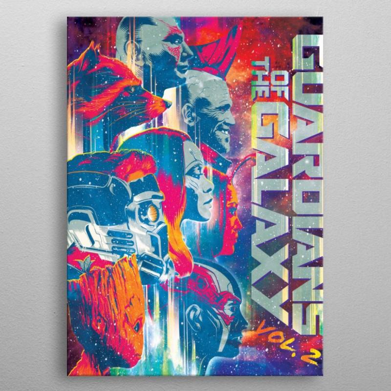 Guardians - Marvel - Metall-Poster