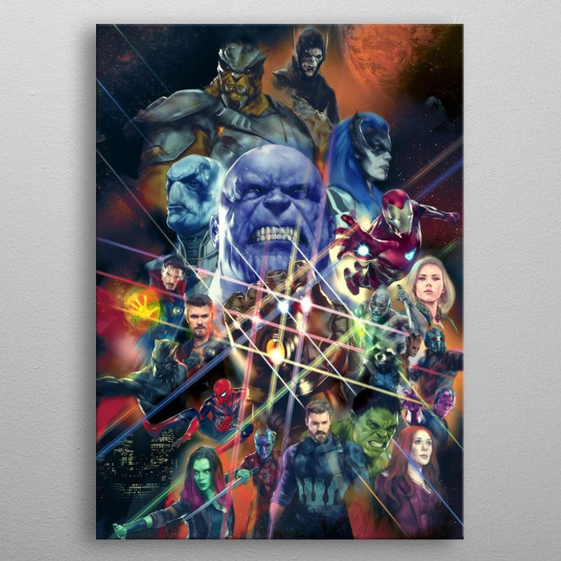 War Characters - Marvel - Metall-Poster