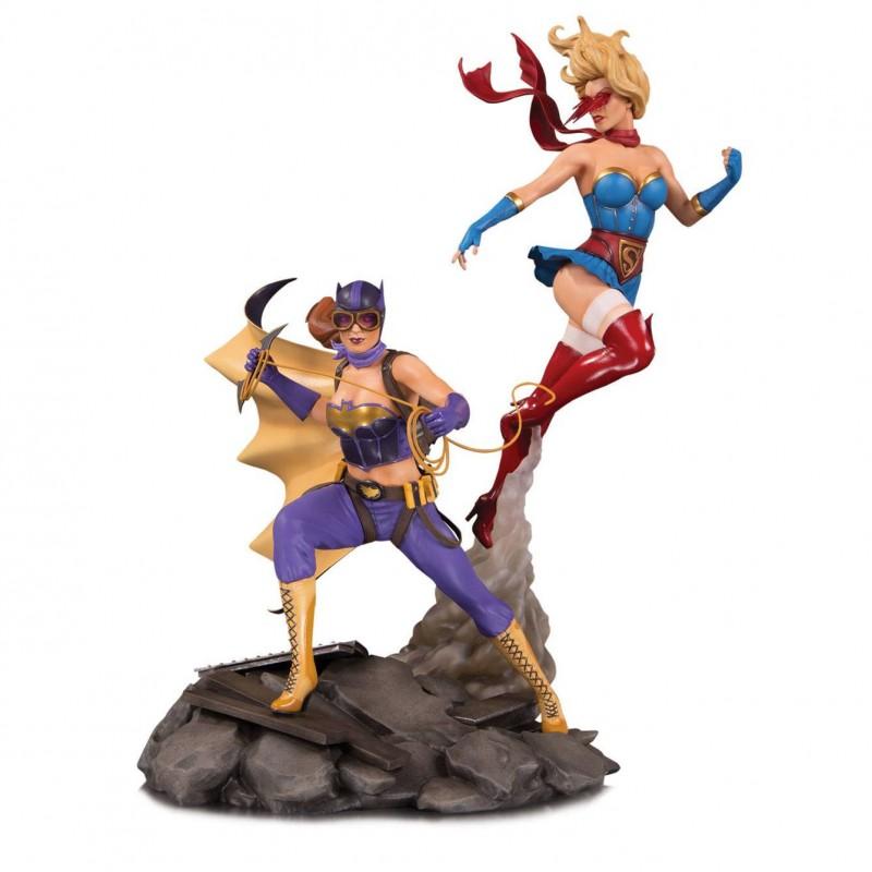 Batgirl & Supergirl Celebration - Bombshells Deluxe - Polystone Statue