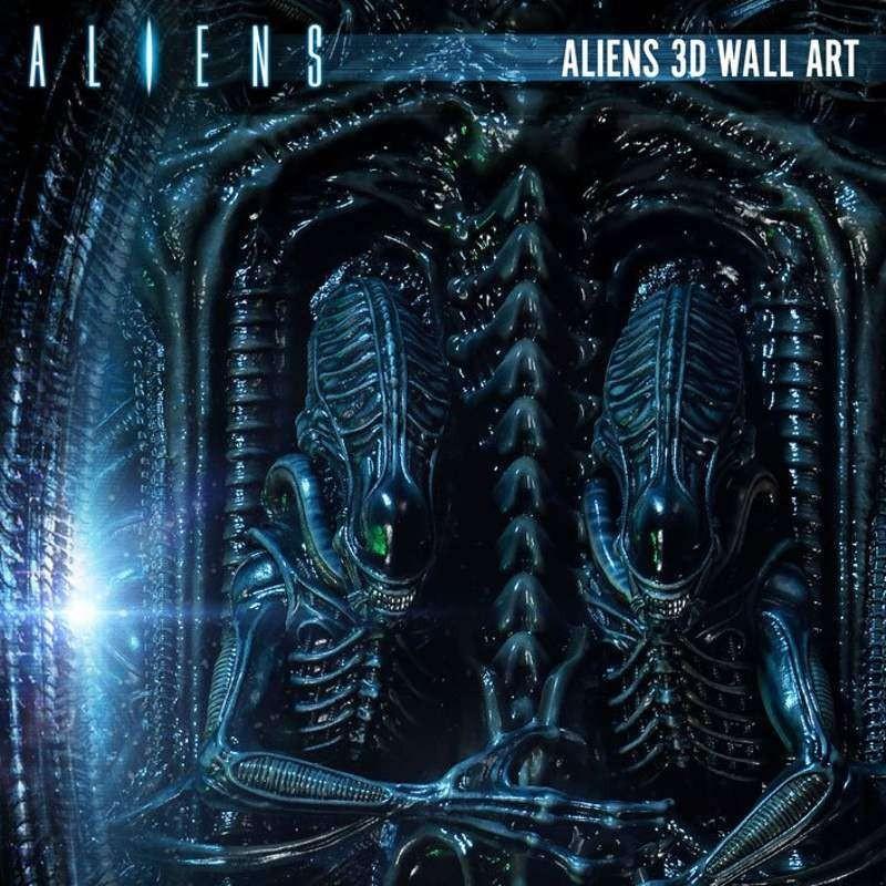 Aliens 3D Wand-Relief 32 x 50 cm