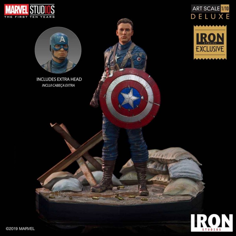 Captain America First Avenger MCU 10 Years Event Exclusive - Marvel Comics - Art 1/10 Scale Statue