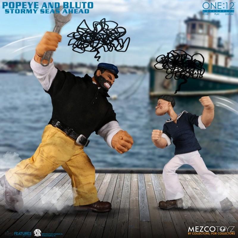 Popeye & Bluto: Stormy Seas Ahead - Popeye - 1/12 Scale Figuren Set