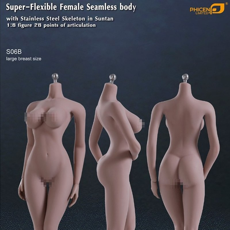 Super Flexible Female Seamless Body S06B - 1/6 Scale Body