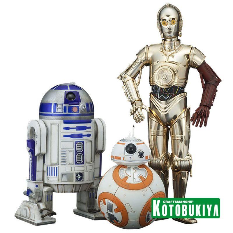 C-3PO & R2-D2 & BB-8 - Star Wars - PVC Statuen Set