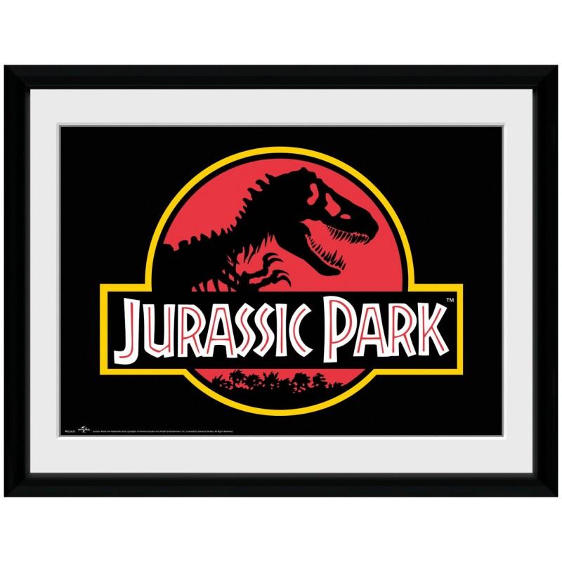 Logo Collector Print - Jurassic Park - Poster im Rahmen