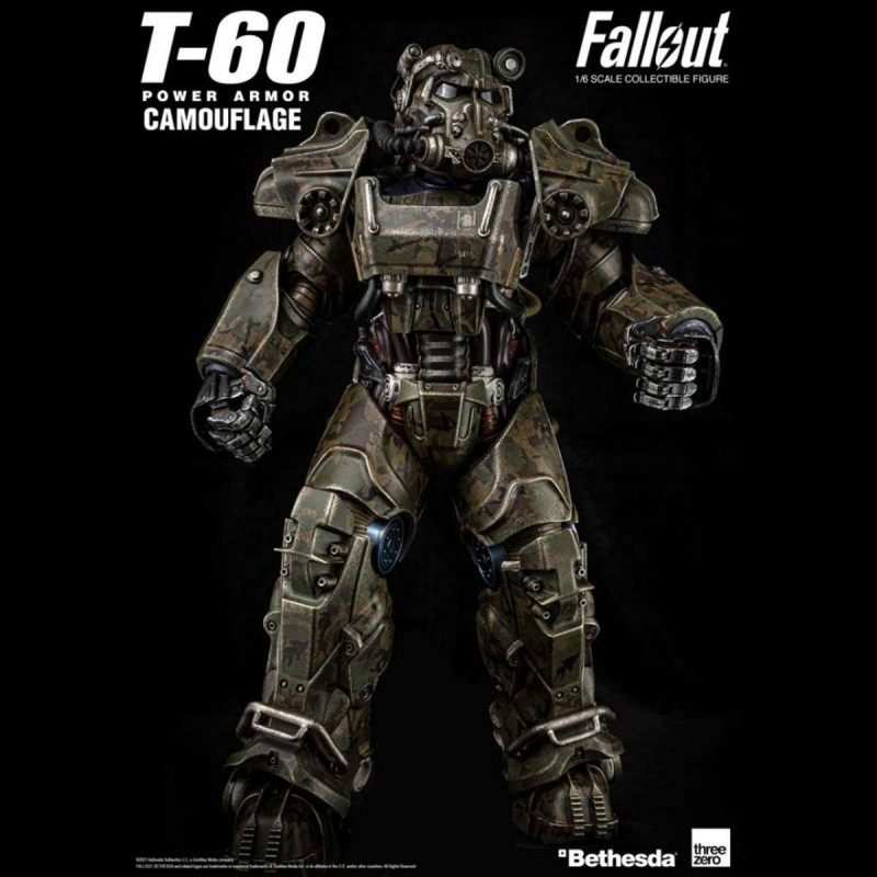 T-60 Camouflage Power Armor - Fallout 4 - 1/6 Scale Action Figur