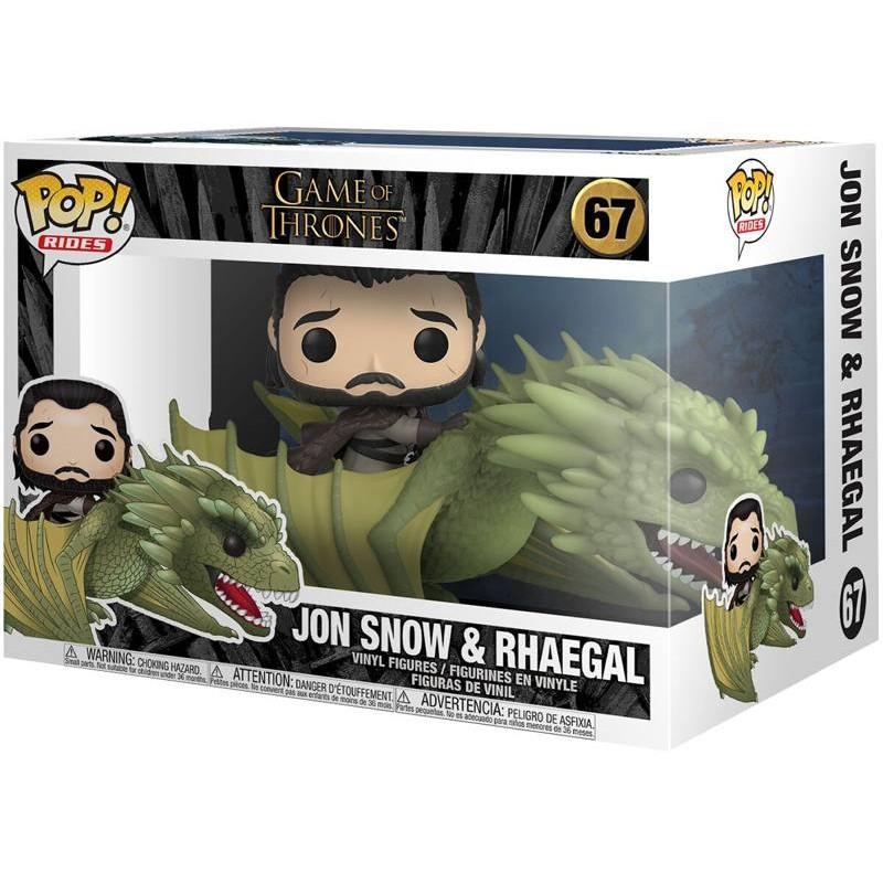 Jon Snow & Rhaegal- Game of Thrones - Rides POP! Vinyl Figur