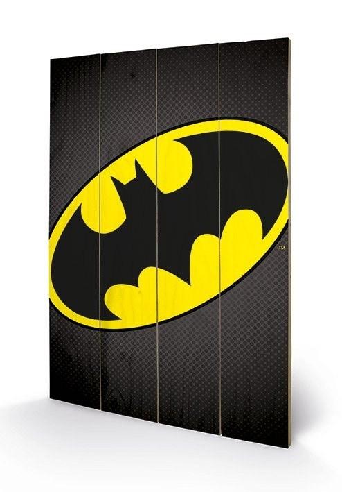 Batman Logo - DC Comics - Holzdruck 40 x 60 cm