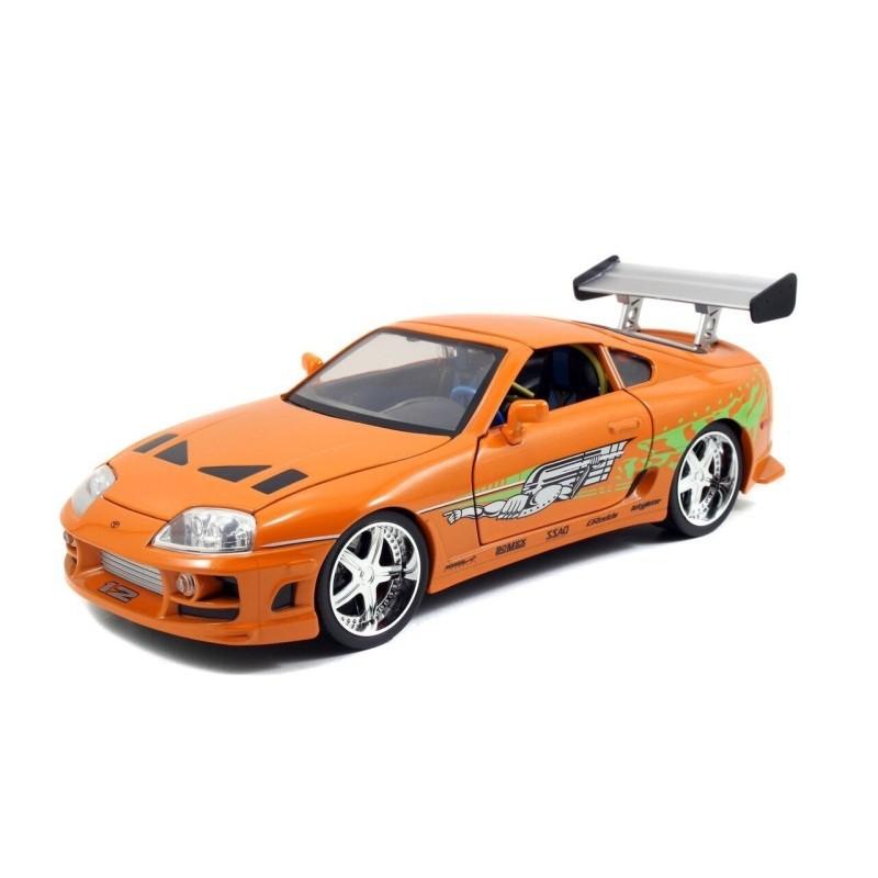 Toyota Supra orange - Fast & Furious 7 - Diecast Modell 1/18