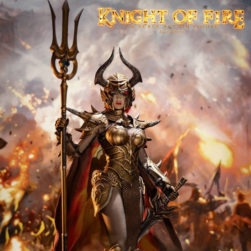 Knight of Fire Golden - 1/6 Scale Actionfigur