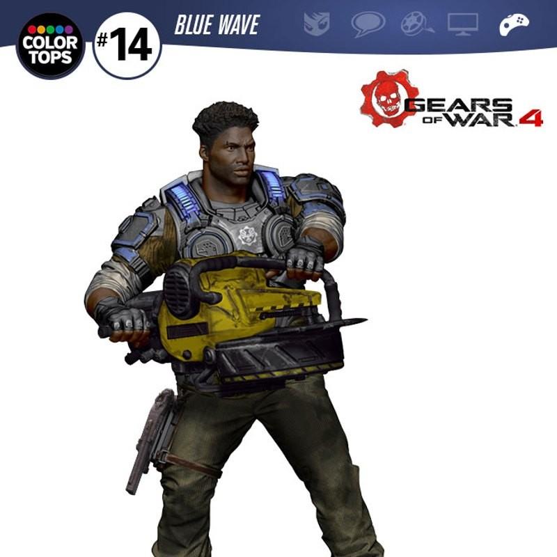 Delmont 'Del' Walker - Gears of War 4 - Color Tops Actionfigur 18cm