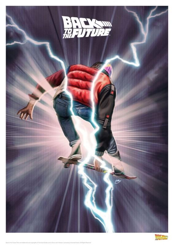 Skate - Zurück in die Zukunft - Kunstdruck 42 x 30 cm