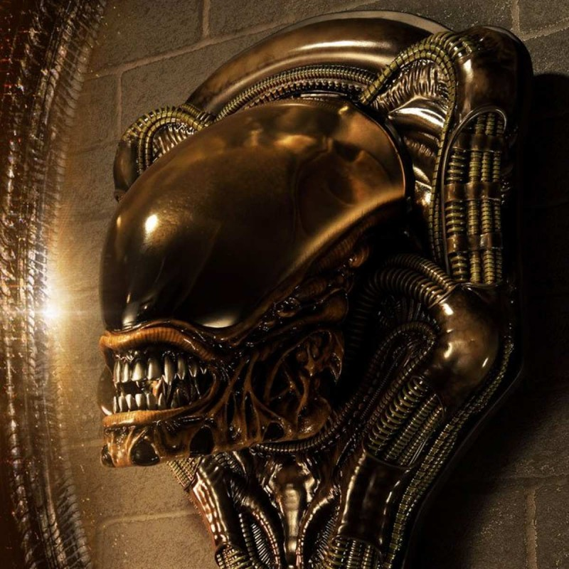 Dog Alien Open Closed Mouth - Alien 3 - 3D Wand-Relief