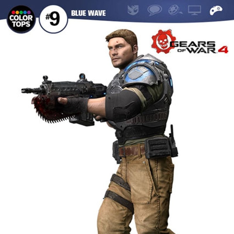 JD Fenix - Gears of War 4 - Color Tops Actionfigur 18cm
