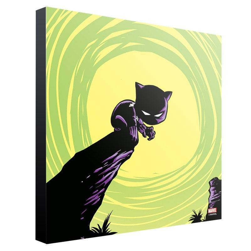 Black Panther by Skottie Young - Holzdruck 30 x 30 cm